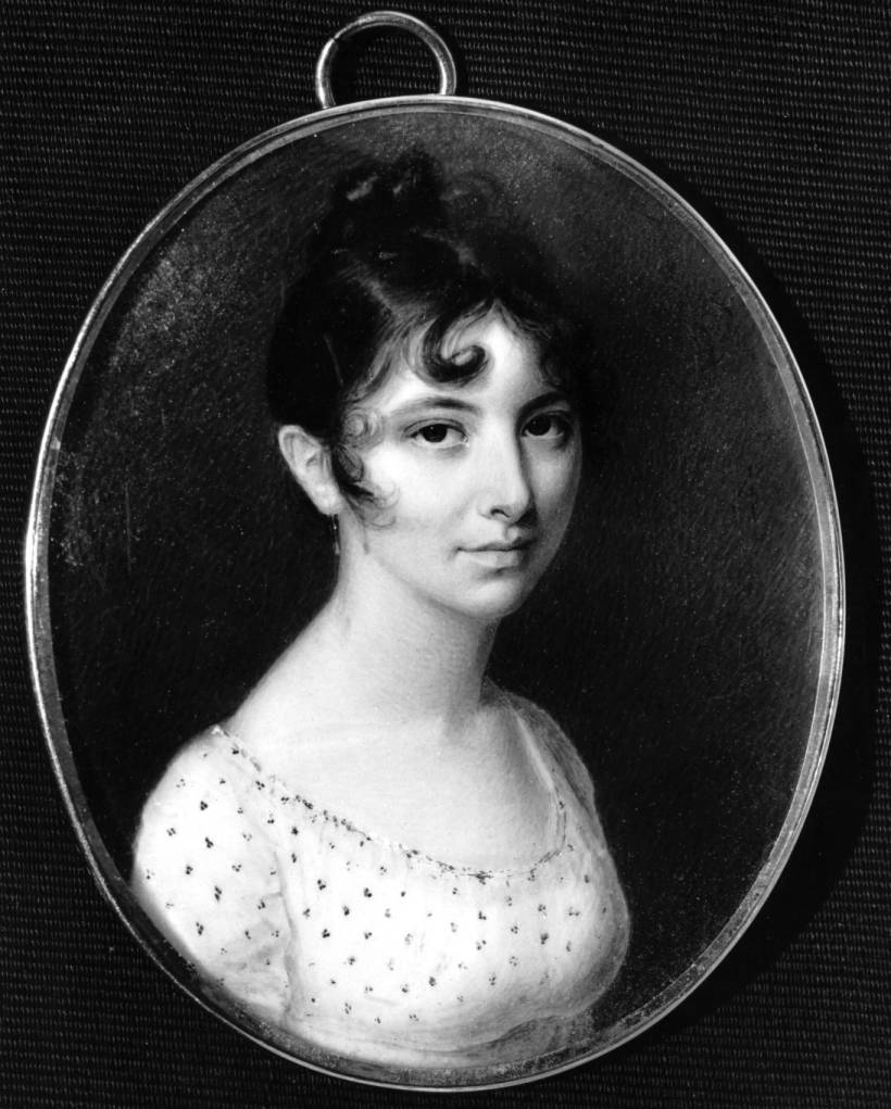 Portrait of Rebecca Gratz copied from Original owned by Kathleen Moore (Montreal, Canada), Hebrew Sunday School Society of Philadelphia (Pa.) Records, Special Collections Research Center, Temple University Libraries.