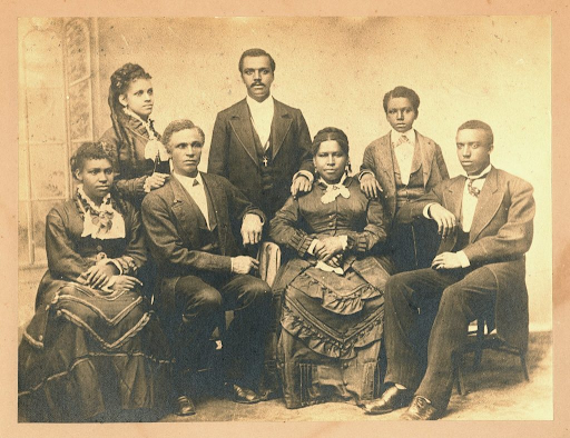 Mossell Family, group portrait, c. 1875. Photo Courtesy of University of Pennsylvania: University Archives Image Collection. Alexander Family Papers, Box 76, folder 3.