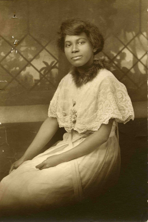 Student File, Student Photo, Mildred Lillian Ennis. Class of 1919, Frederick Douglass Memorial Hospital and Training School. MDHR_MC78_BX04_S6_F32_001