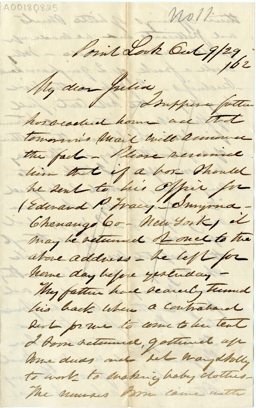 Abby Hopper Gibbons letter to Julia Gibbons, 29 September 1862, Point Lookout, Maryland, A00180825