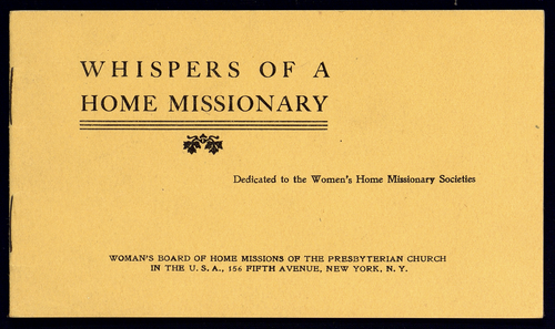 Whispers of a home missionary